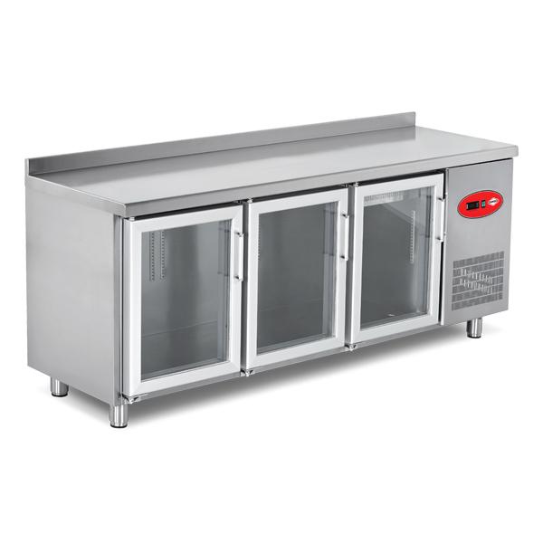 Glass Door Refrigerated Counters